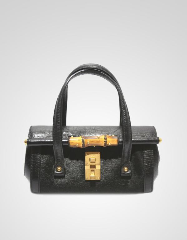 de14652d3af Αρχική σελίδα/Προϊόντα/Προϊόντα/Τσάντες/Gucci Mini Bullet Bamboo Bag Pony  skin & leather