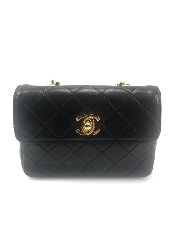 800b9713ef7a Αρχική σελίδα/Προϊόντα/Προϊόντα/Τσάντες/Chanel Vintage Classic Flap Bag  Quilted Leather Extra Mini