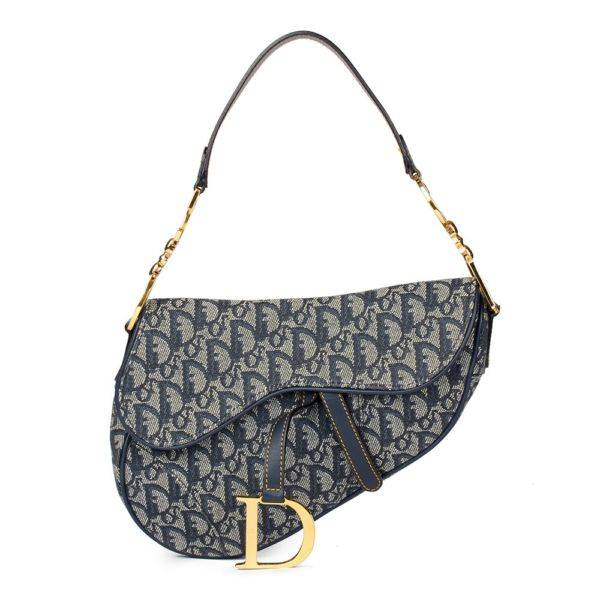 bab03b633a Cristian Dior Canvas Saddle Vintage Bag