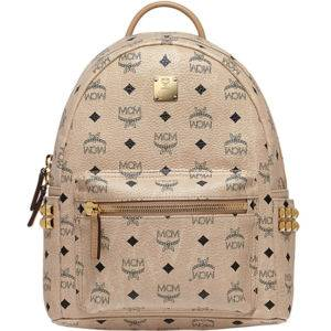 MCM Stark Side Studs Backpack in Visetos Medium Beige 8ea945089eb