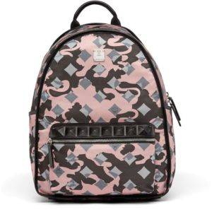 47e04db0ff MCM Dieter Backpack in Pink Nylon Camo Lion