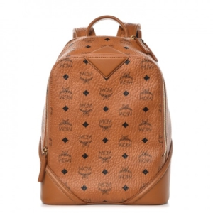 MCM Duke Visetos Cognac Small Backpack 58e2f95d2d6