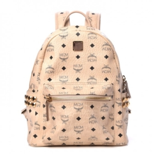 11f5f7db02 MCM Small Side Stark Beige Backpack